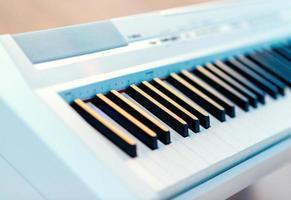 elektrisk piano närbild foto