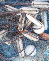 fisknät på nära håll foto