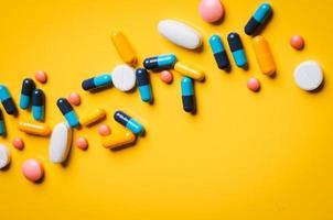 närbild av piller foto