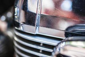 motorcykelmotor på nära håll foto