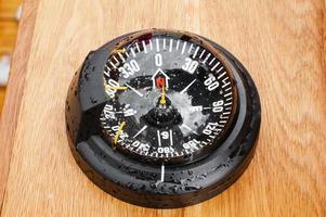 yacht kompass, närbild foto