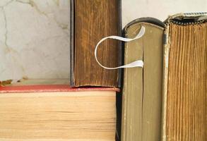 gamla böcker, närbild foto