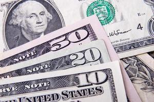 närbild av dollar