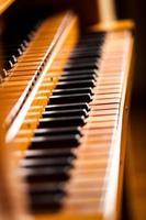 piano på nära håll foto