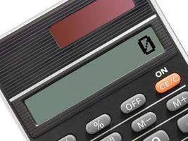 miniräknare (närbild) foto