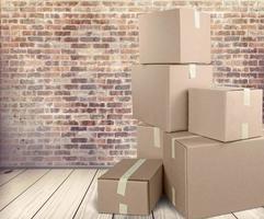 låda, kartong, frakt foto