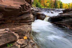michigan övre halvön bonanza faller under hösten foto