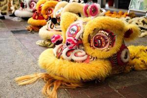 kinesiska nyåret - lejonhuvud foto