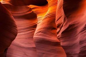 sandstenmönster i nedre antilopkanjon, sida, Arizona foto