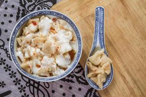traditionell turkisk ravioli, manti foto