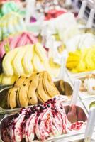 italiensk gelato glass foto