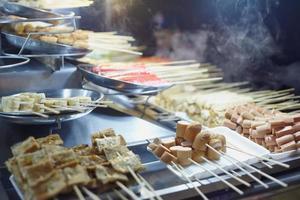 närbild chines street foodstyle foto