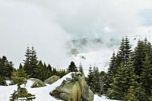 tre hotell på toppen av berget uludag foto
