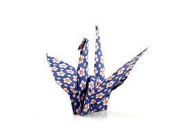 kran origami fågel foto