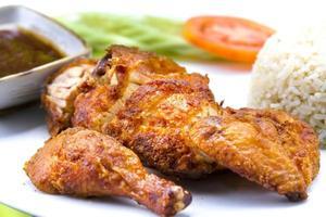 kyckling stekt ris foto