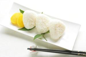 japansk mat, risboll onigiri foto