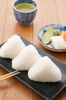 japansk, mat, onigiri foto