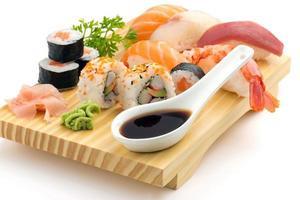 sushi tallrik