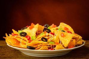 nachos på en tallrik foto