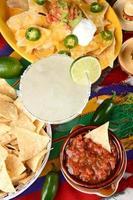 margarita och mexikansk mat foto