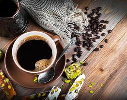turk och kaffe turkisk glädje foto