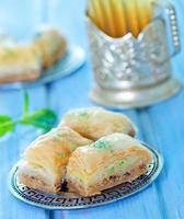 baklava, turkisk efterrätt foto