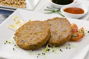 vegetarisk tofuburger.