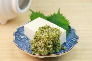 potherb och tofu foto