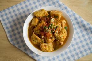 tofu sås - vegansk mat foto