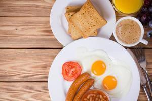 komplett engelsk frukost foto