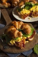 skinka och ost ägg frukost smörgås