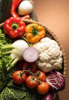 stilleben med grönsaker foto
