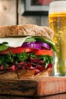 stor smörgås foto