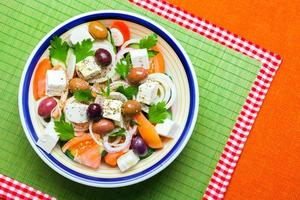 traditionell grekisk bysallad