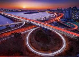 mapo bridge och seoul foto
