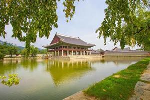 gyeongbokgung palats, seoul, korea foto