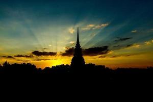 belysning av solnedgången