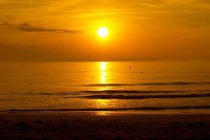 hav solnedgång orange foto