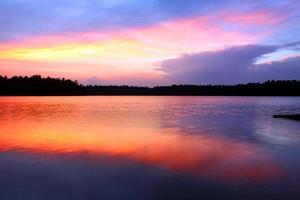 Northwoods Wisconsin solnedgång foto