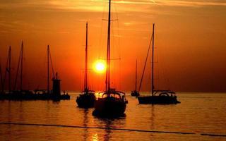 solnedgång i Kroatien foto