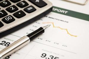 rapport om analys av affärsgraf foto