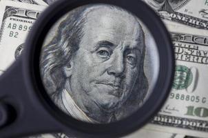 hundra dollar i USA foto