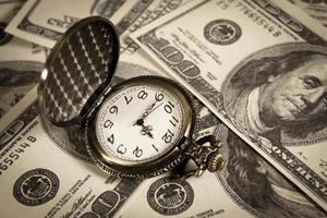 tid är pengar, affärsidé. foto