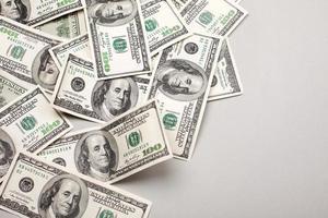 pengar amerikanska hundra dollar räkningar foto