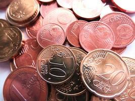 pengarmynt - euro och cent foto