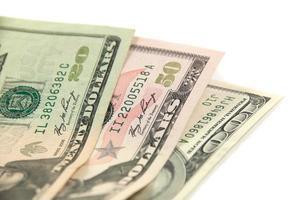 dollar banker notera pengar bakgrund foto