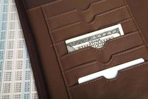 handväska med dollar foto