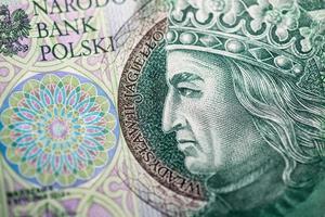 polska papperspengar eller sedlar foto