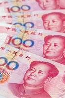 Kina yuan pengar. kinesisk valuta foto