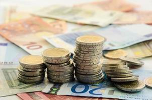 mynt och sedlar foto